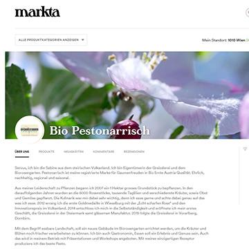 Markta Online Shop weietere Verkaufsoption